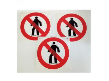 Durchgang verboten klein