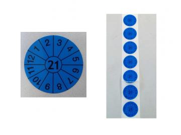 Prüfplaketten blau